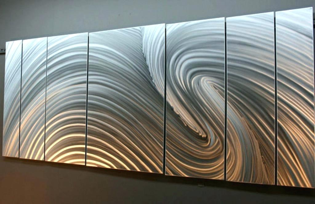 Image of: Perfect Metal Wall Art Panels