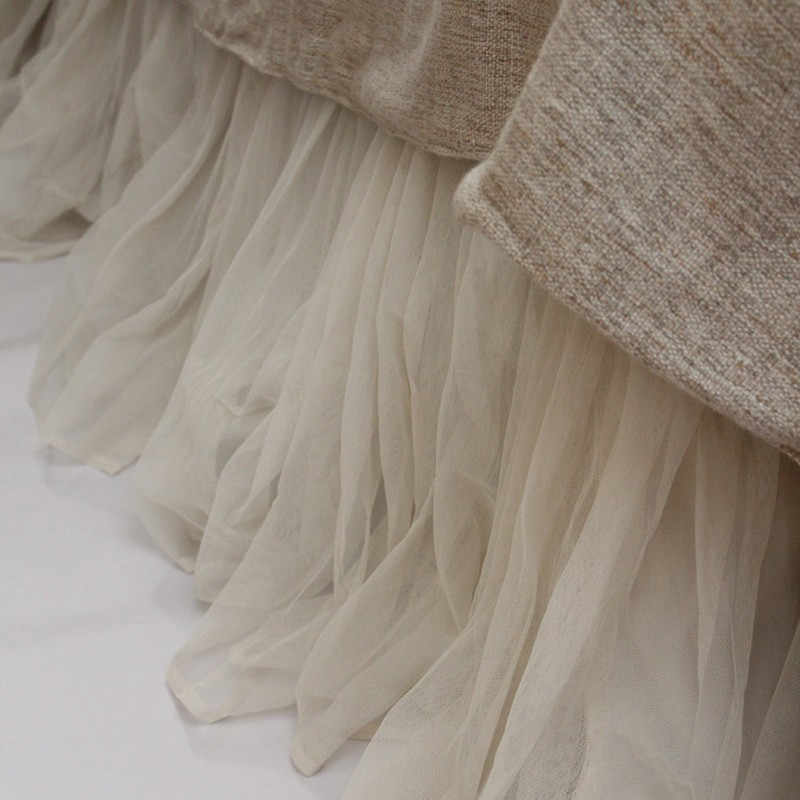 Image of: Perfect Tulle Bed Skirt