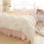 Pink Quilted Bed Skirt