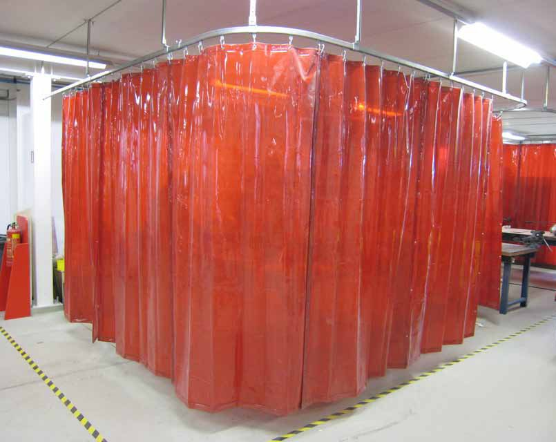 Image of: Plastic Curtain Red