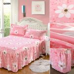 Polyester Cotton Patterned Bed Skirt