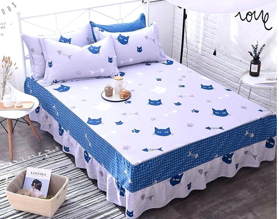 Image of: Printed Patterned Bed Skirt