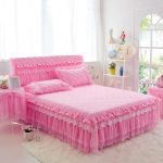 Quilted Bed Skirt Pink