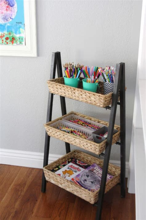 Image of: Rack Art Supply Storage Ideas