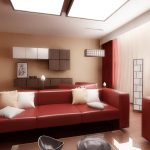 Red Living Room Ideas Brown