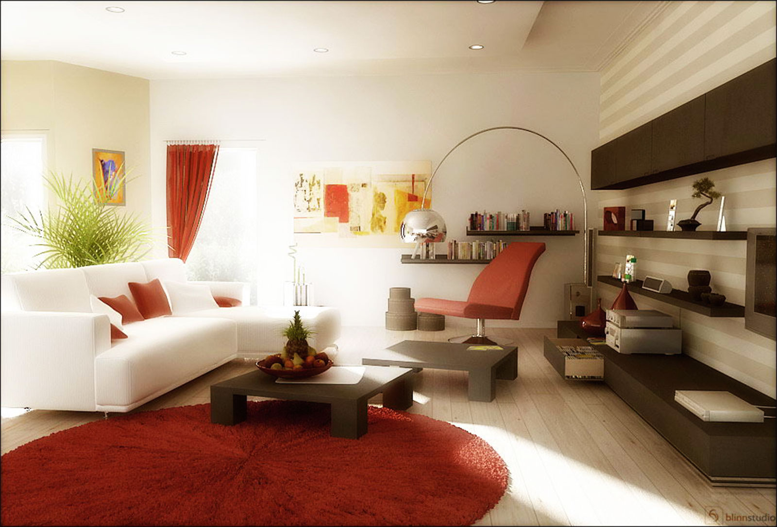 Image of: Red Living Room Ideas Decoration