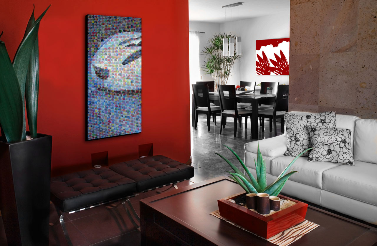 Image of: Red Living Room Ideas Design