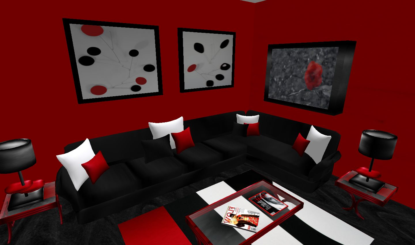 Image of: Red Living Room Ideas Fashion