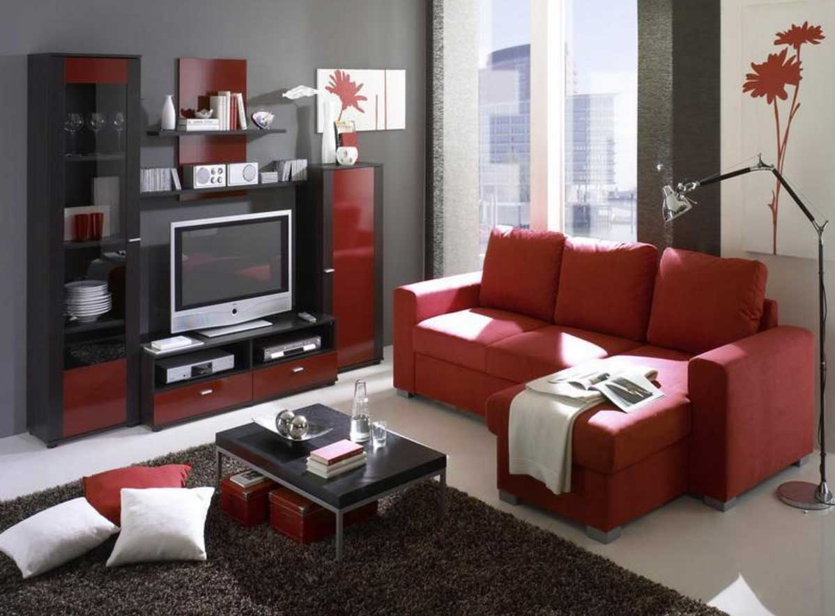 Image of: Red Living Room Ideas Inspiration