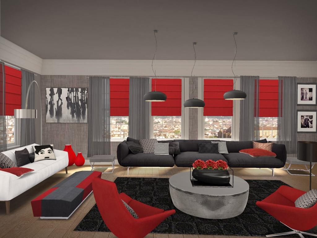 Image of: Red Living Room Ideas Interior