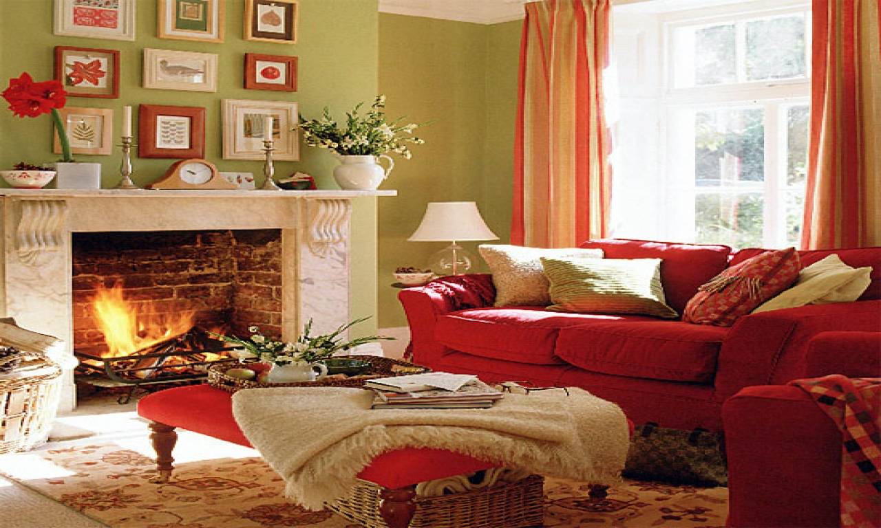 Image of: Red Living Room Ideas Remodel