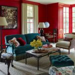 Red Living Room Ideas Wall