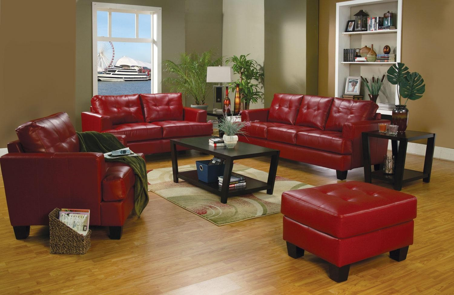 Image of: Red Living Room Set Chair