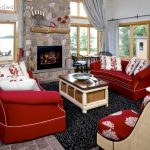 Red Living Room Set Couch