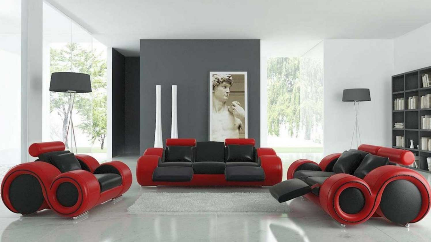 Image of: Red Living Room Set Interior