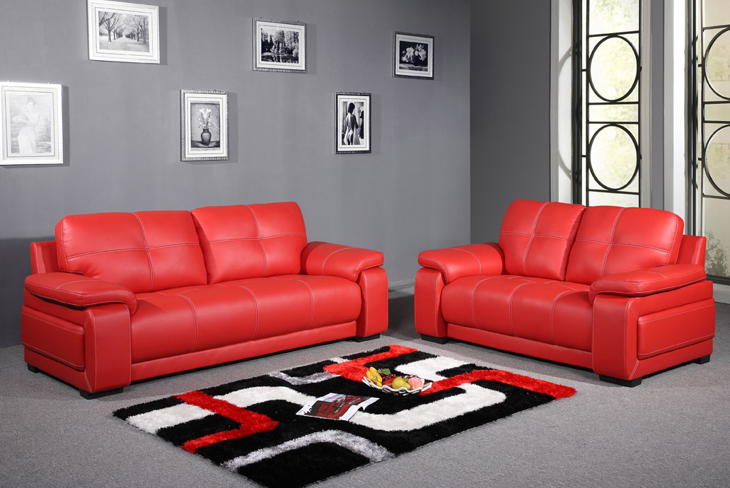 Image of: Red Living Room Set Small