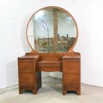 Round Antique Vanity Dresser