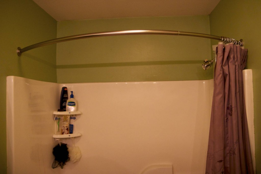 Image of: Round Curtain Rod Gold