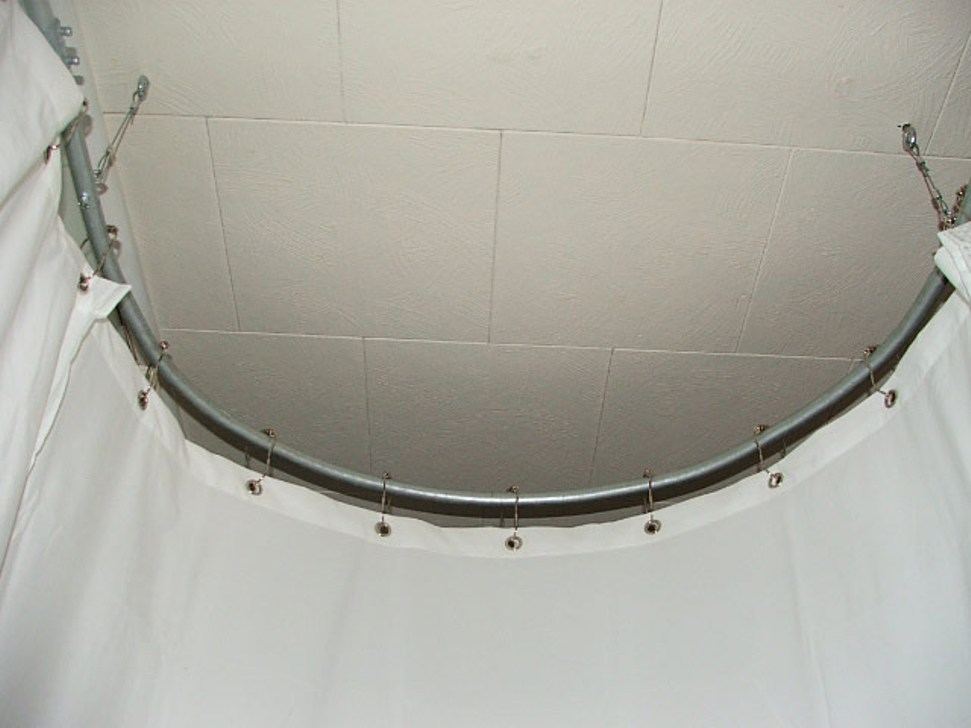 Image of: Round Curtain Rod Home
