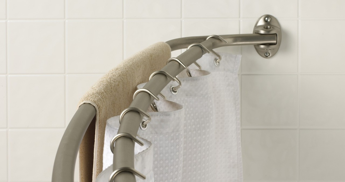 Image of: Round Curtain Rod Track