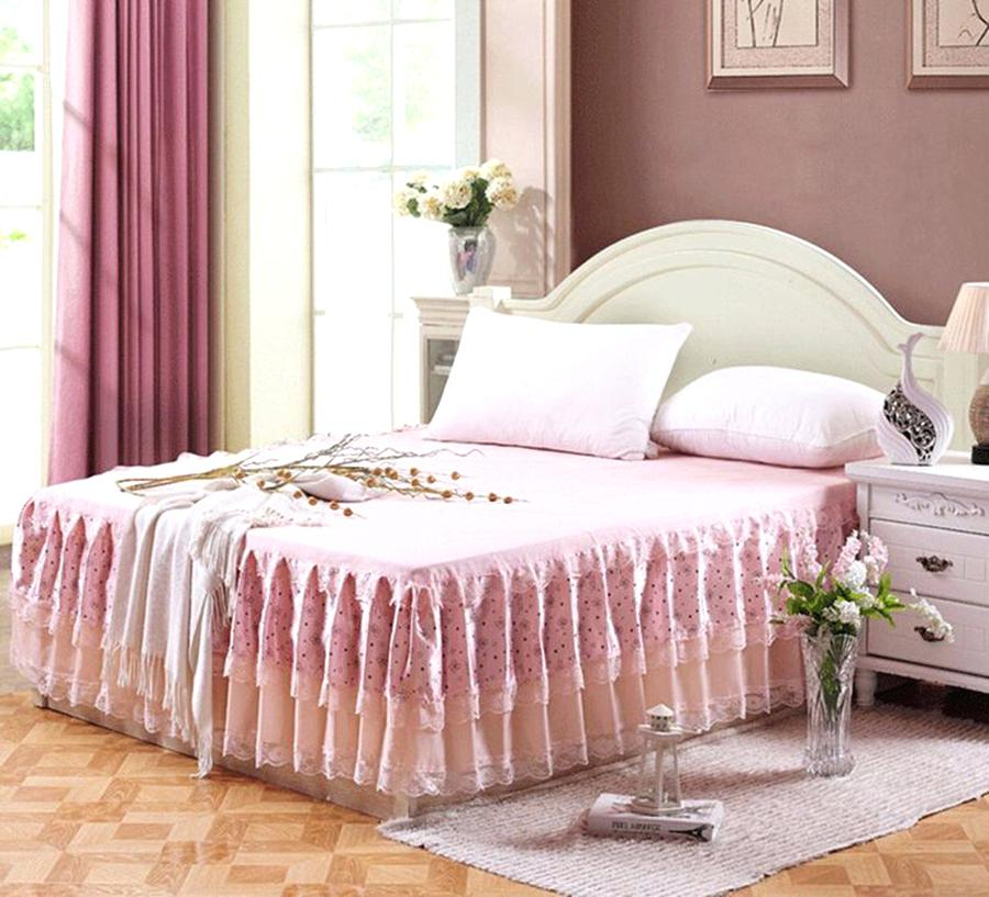 Image of: Ruffle Patterned Bed Skirt