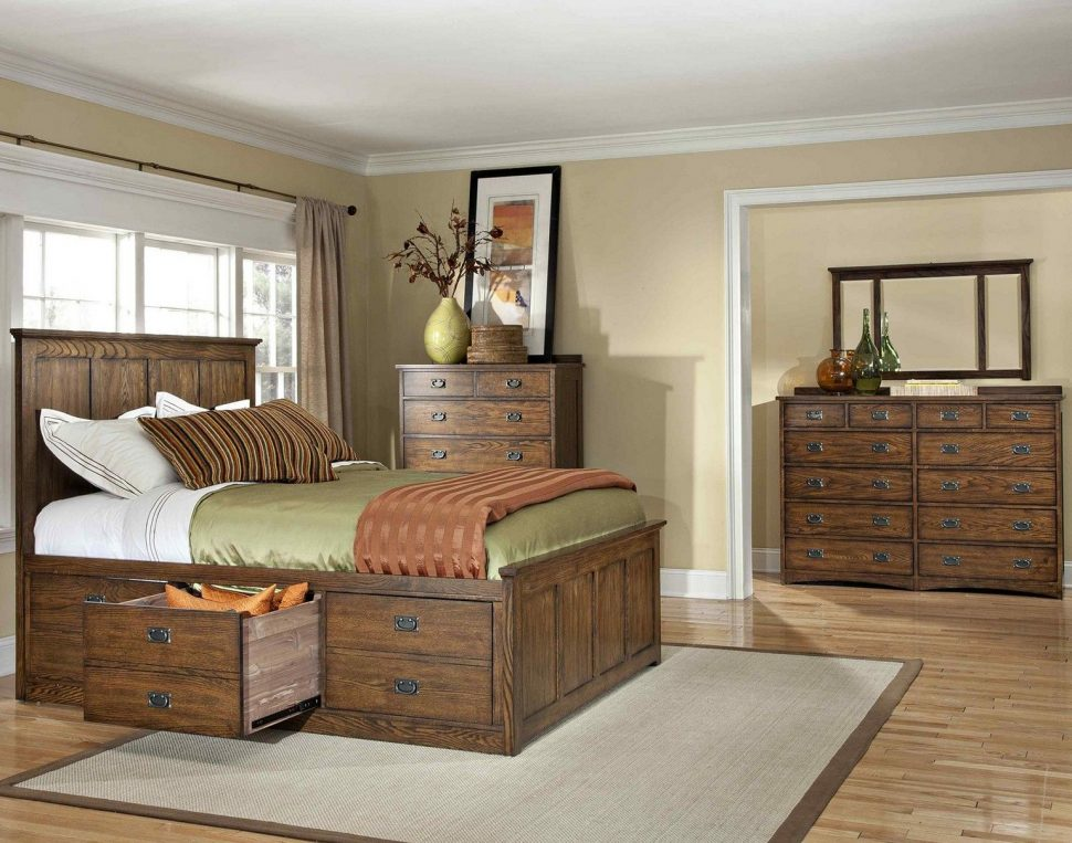 Rustic Ashley Furniture Storage Bed