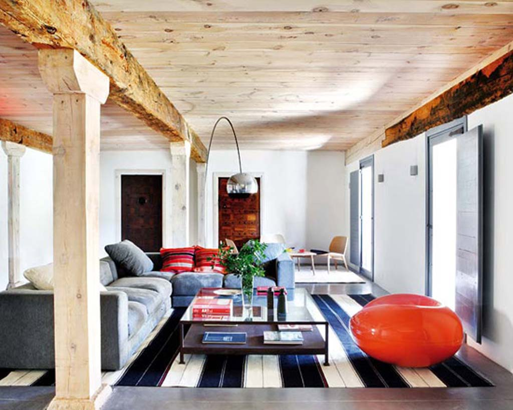 Image of: Rustic Modern Living Room Awesome