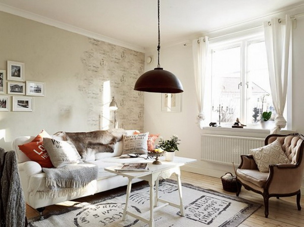 Image of: Shabby Chic Living Room Simple
