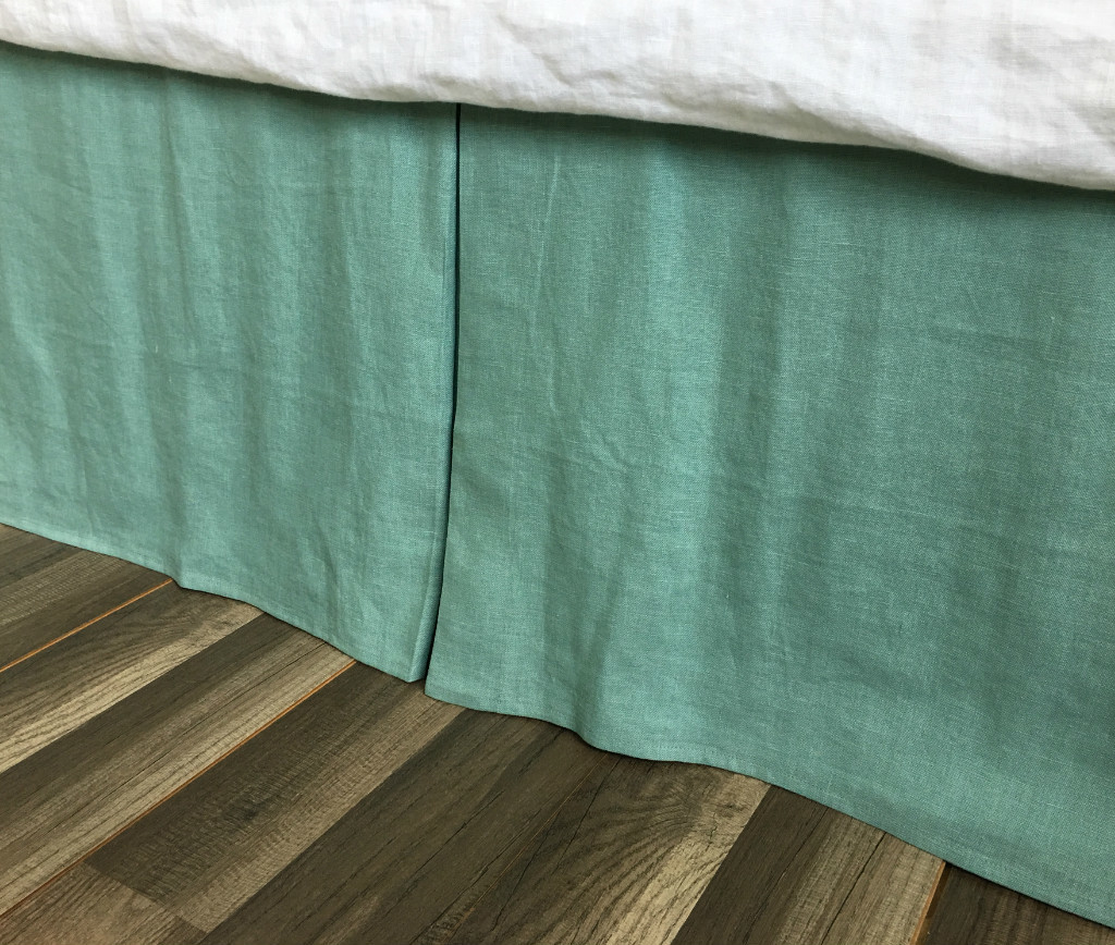 Image of: Shades of Green Bed Skirt