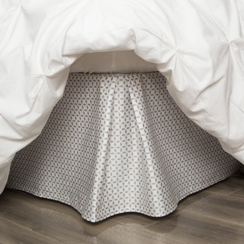 Image of: Silk Patterned Bed Skirt