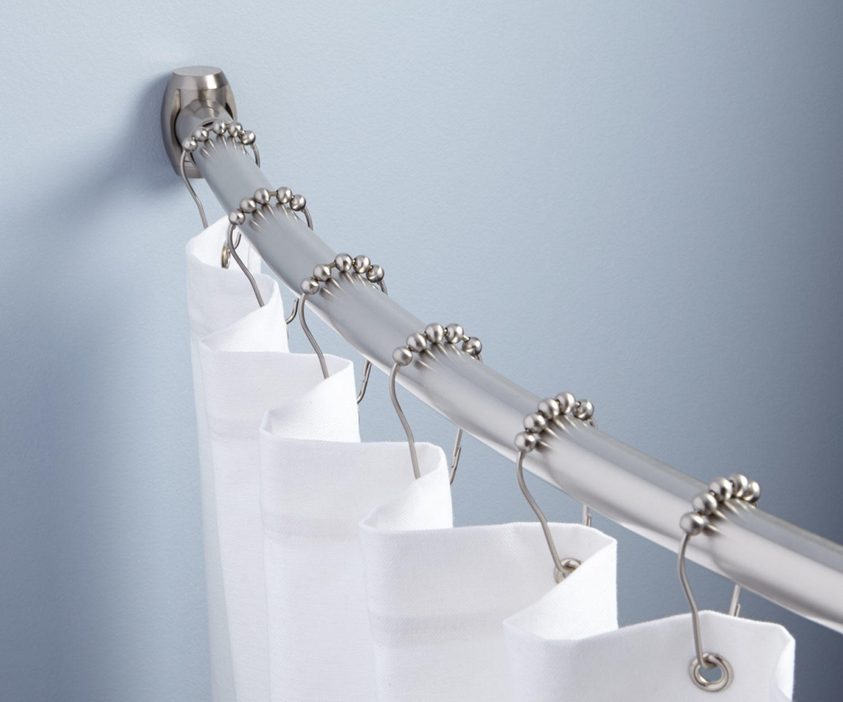 Silver Curtain Rods Design
