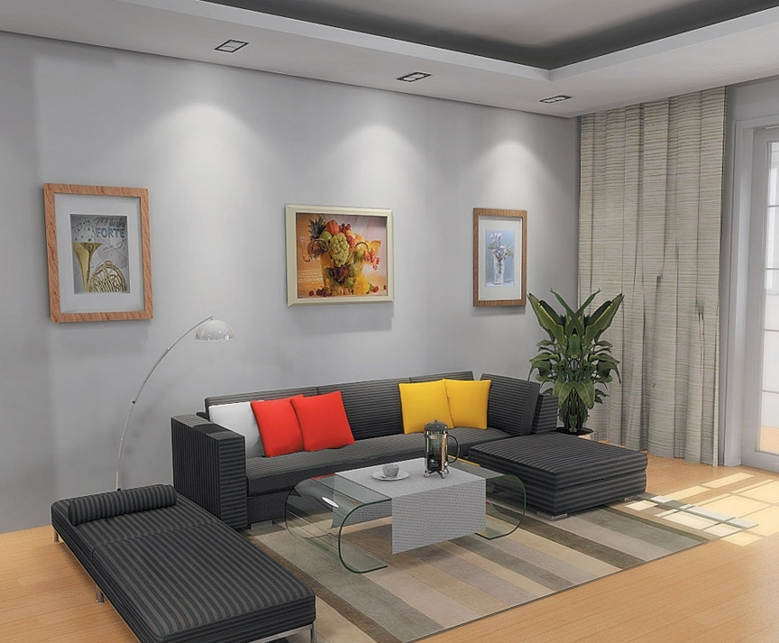 Image of: Simple Living Room Ideas Grey