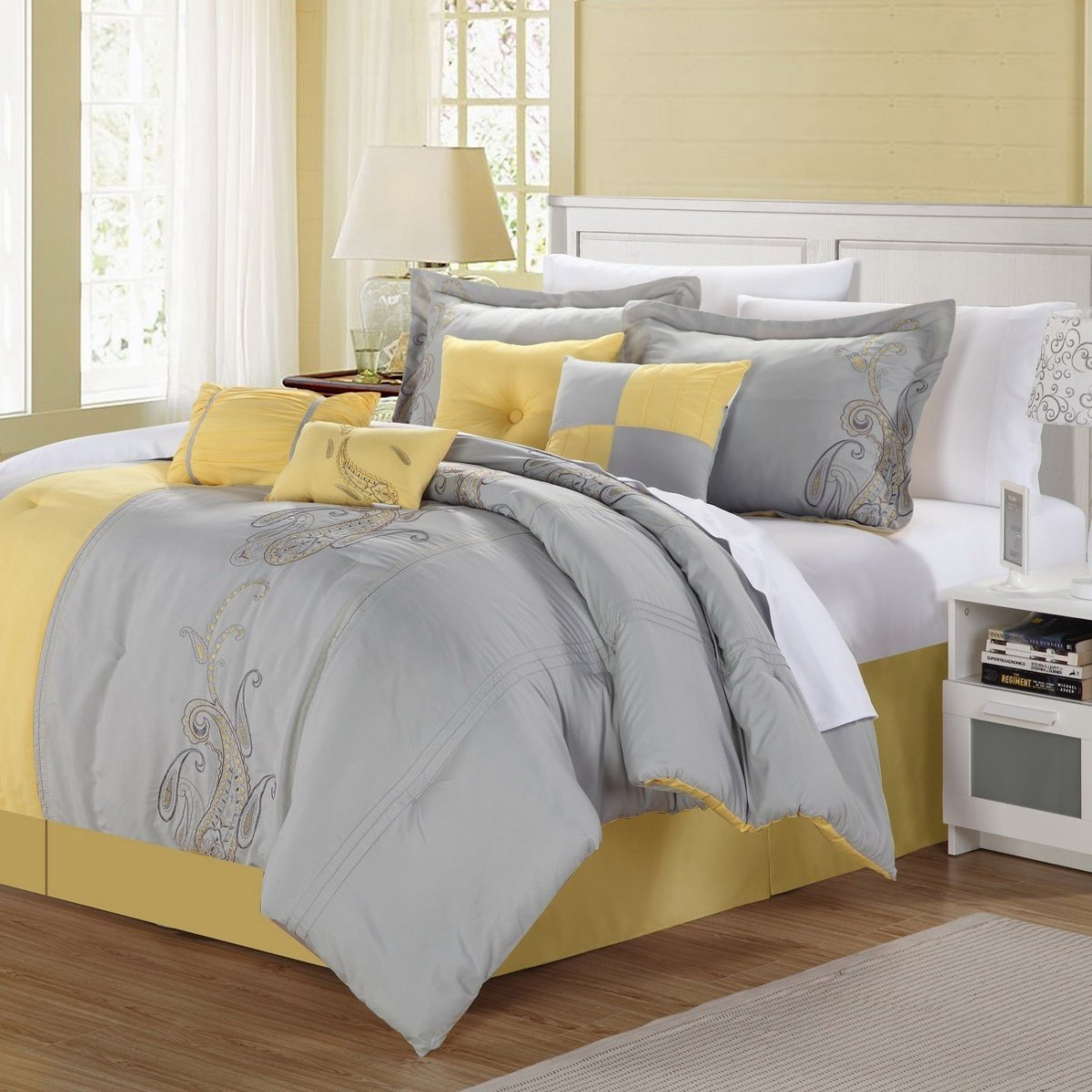 Image of: Simple Yellow Bed Skirt