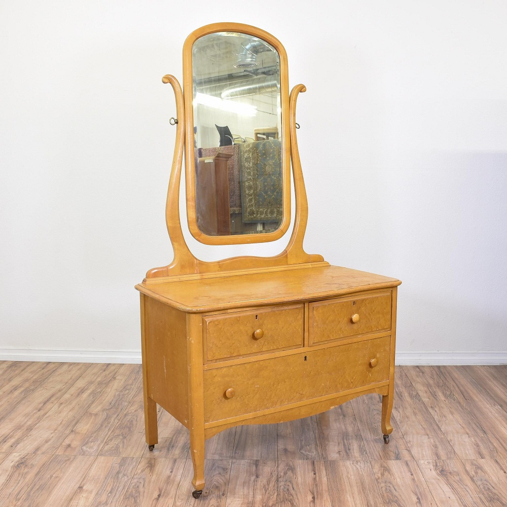 Image of: Small Antique Vanity Dresser