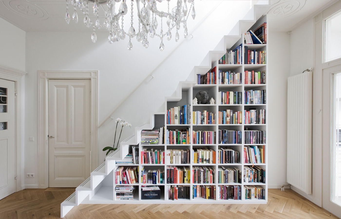 Image of: Small Apartment Storage Ideas Staircase