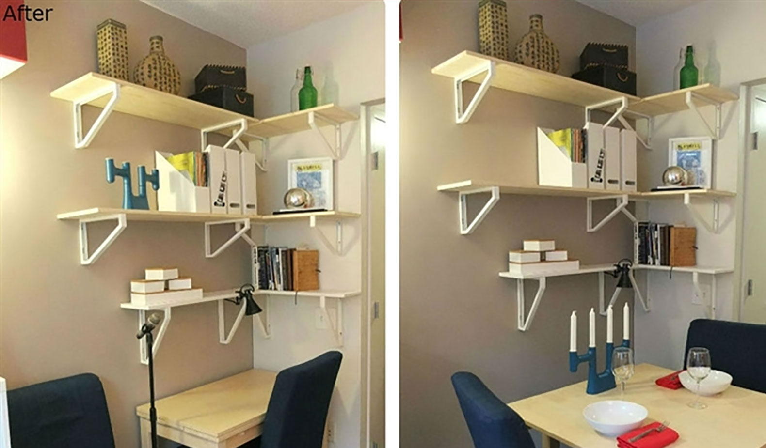 Image of: Small Apartment Storage Ideas on Wall