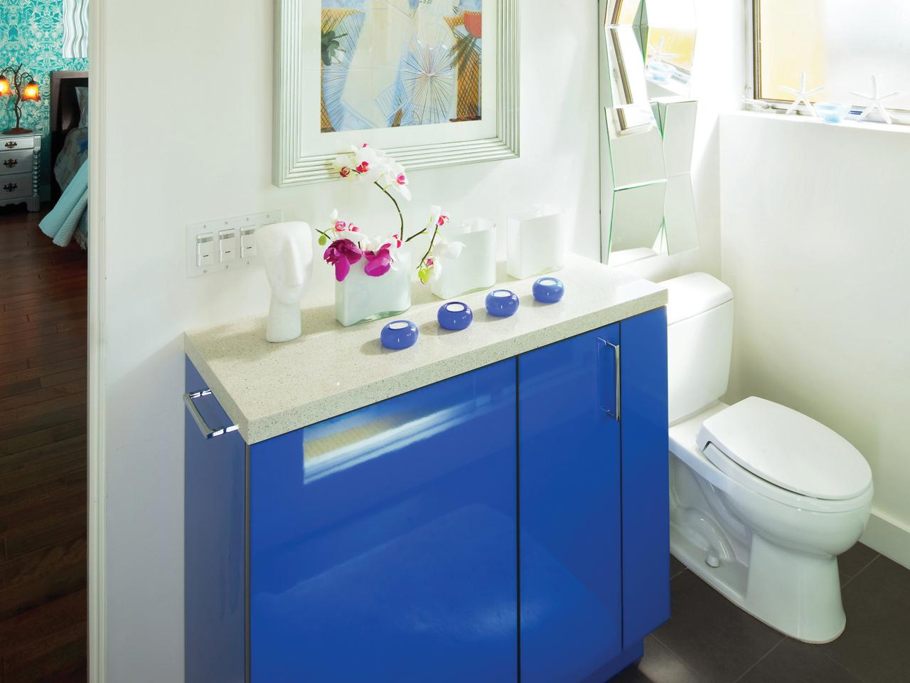 Image of: Small Bathroom Storage Ideas Cabinets Blue