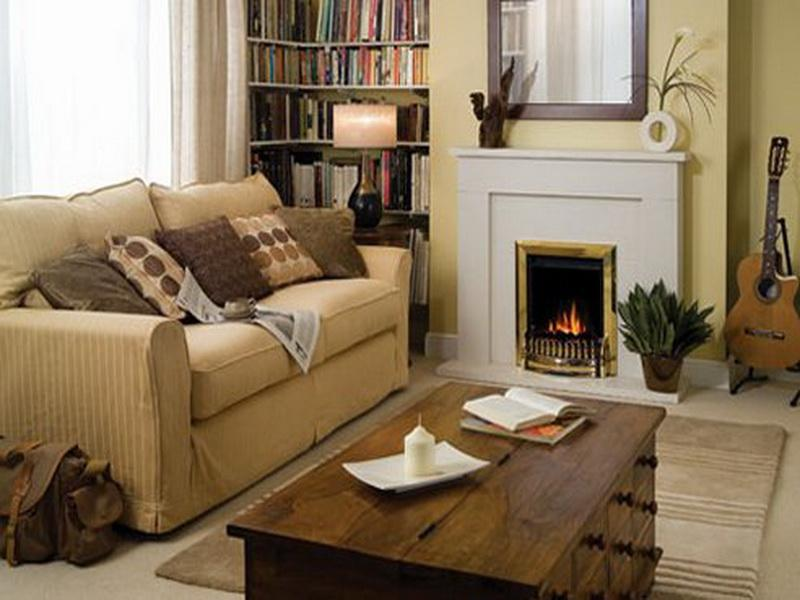 Image of: Small Living Room Decorating Ideas Fireplace