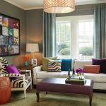 Small Living Room Design Colorful