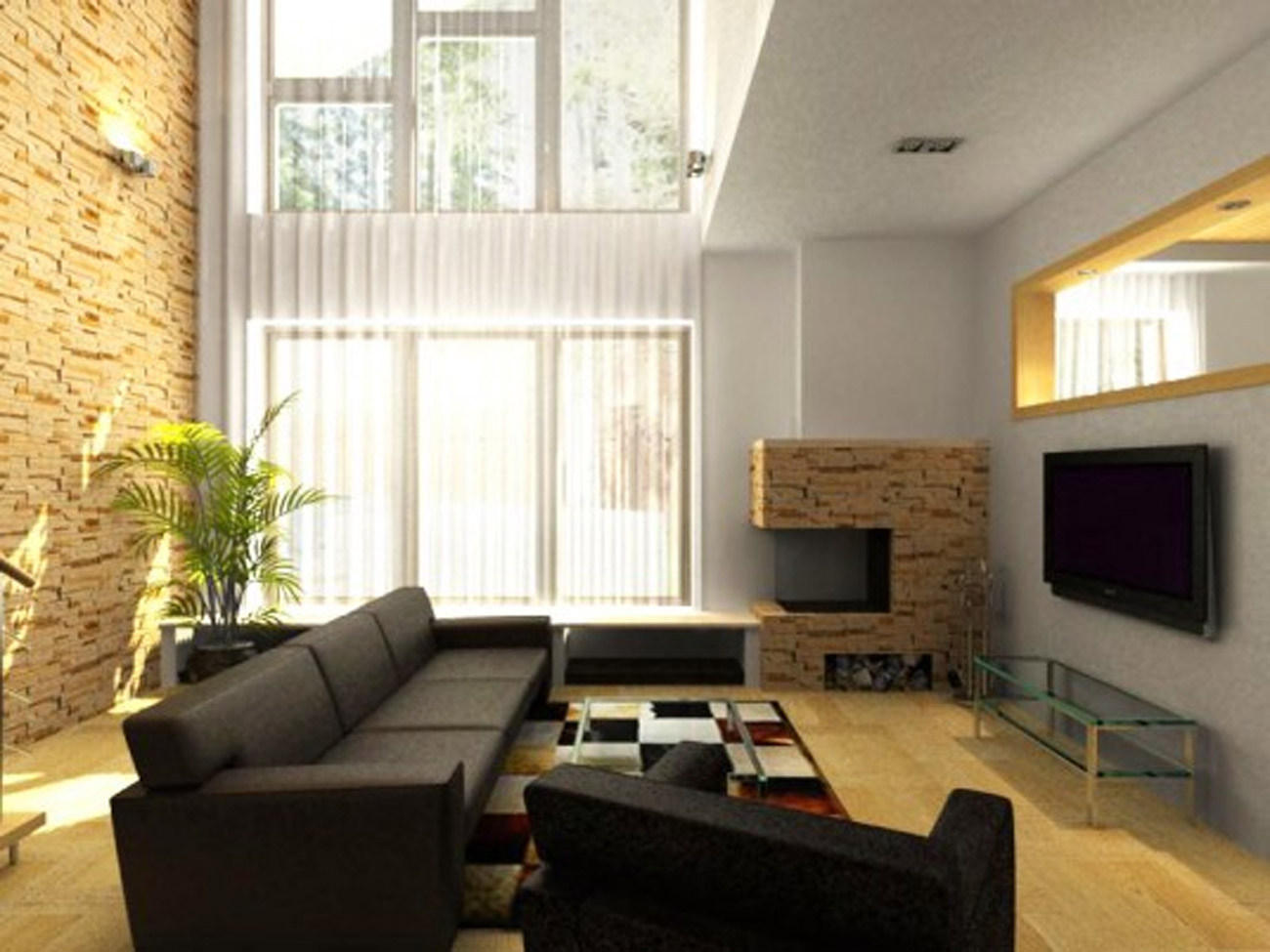 Image of: Small Living Room Designs Sofa