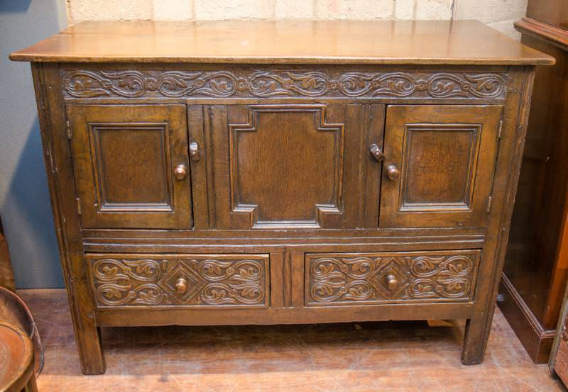 Solid Oak Antique Dresser