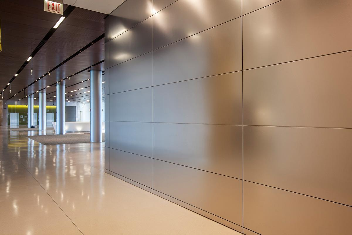 Image of: Stainless Steel Wall Panels Office