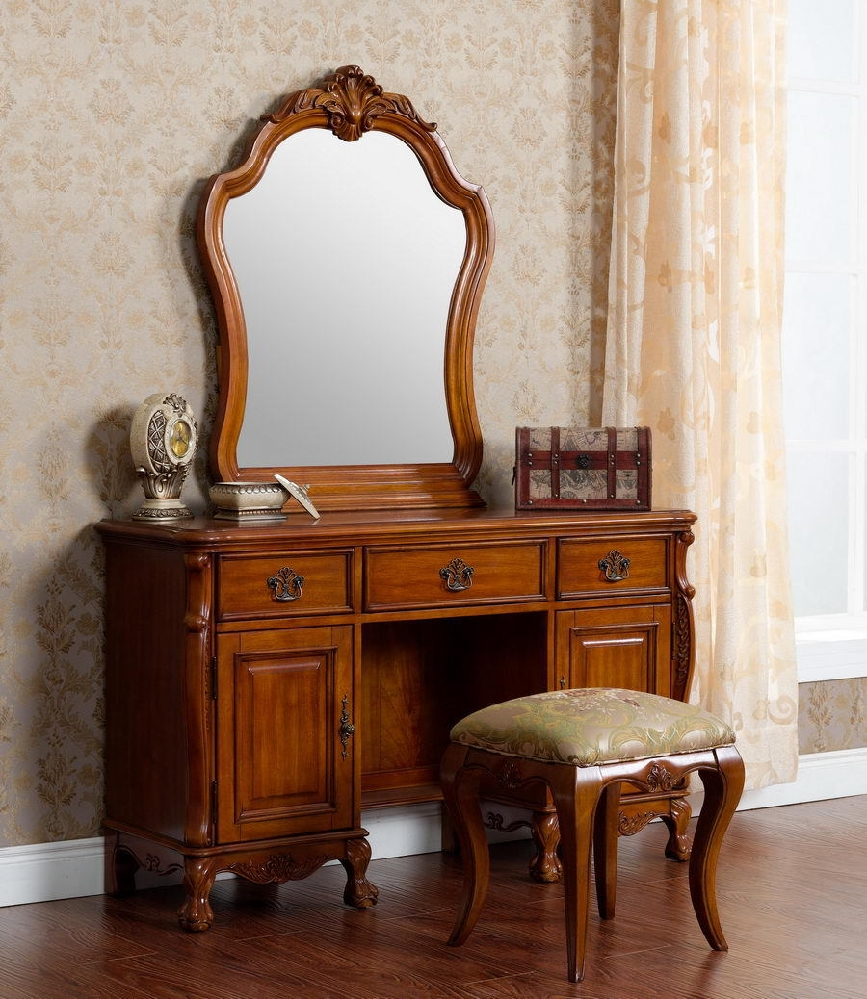 Image of: Stool Antique Vanity Dresser