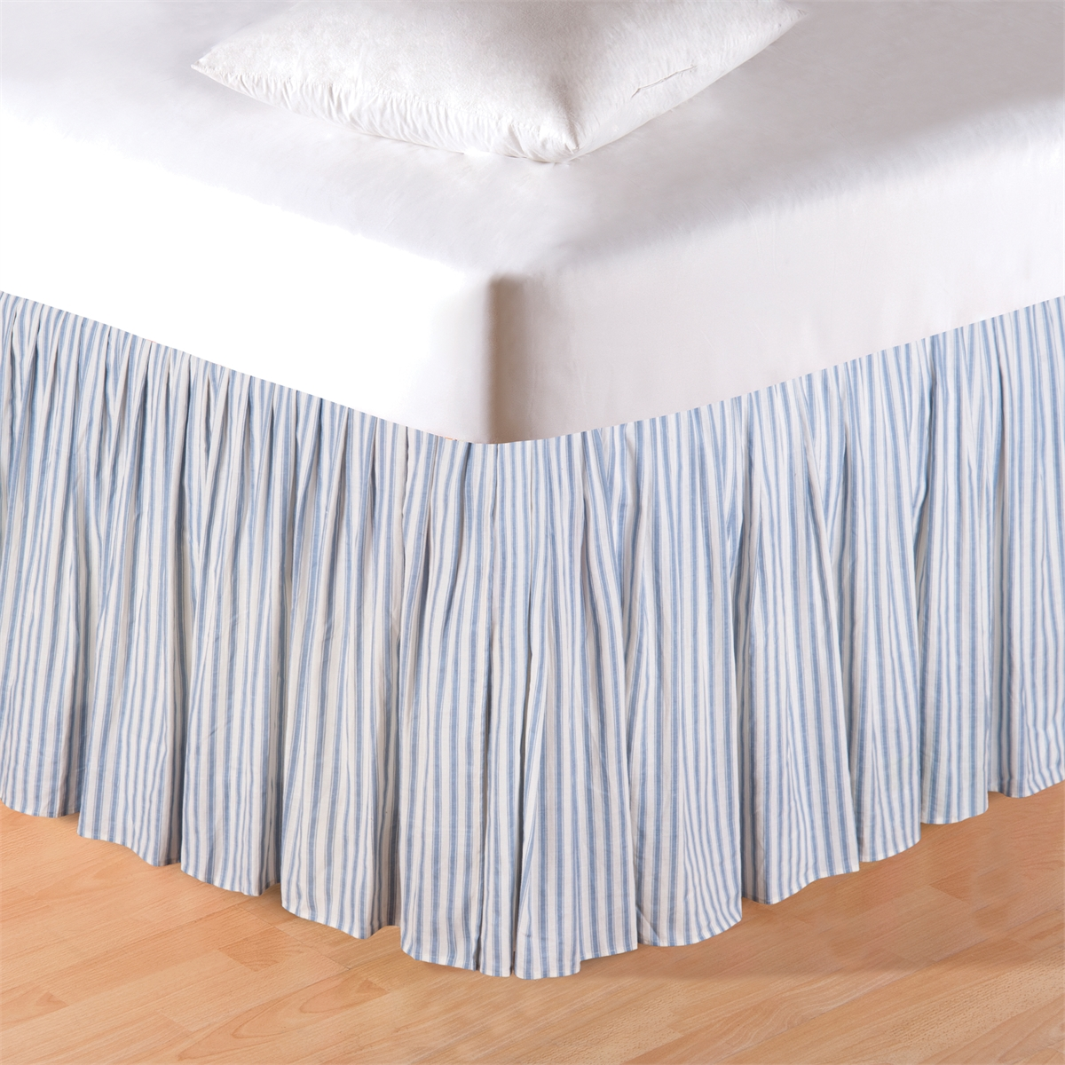Image of: Strip Gray Bed Skirt