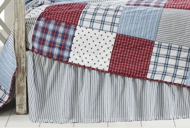 Image of: Striped Bed Skirts King