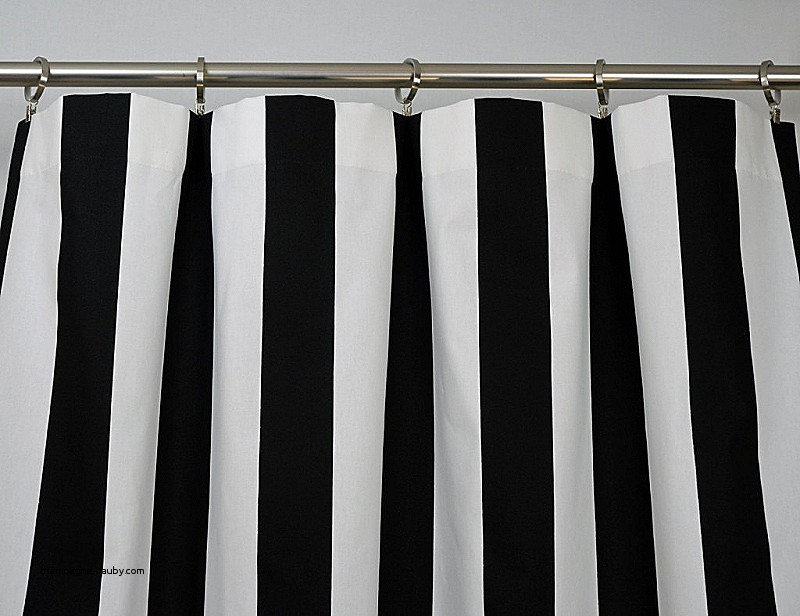 Image of: Striped Shower Curtain Black White