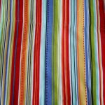 Striped Shower Curtain Colorful