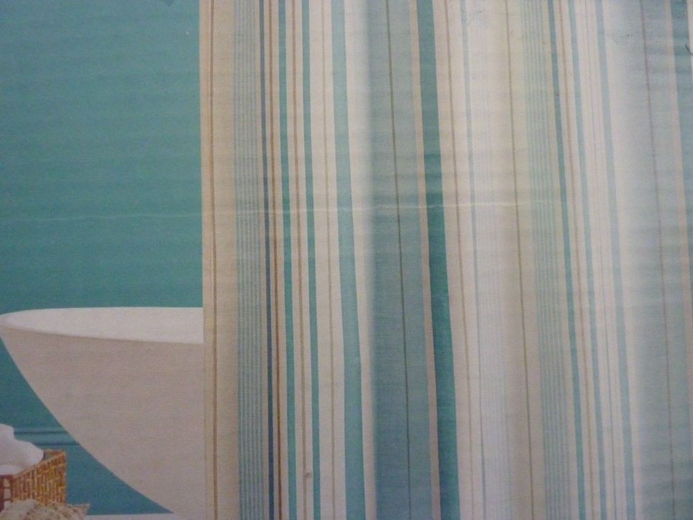 Striped Shower Curtain Detail