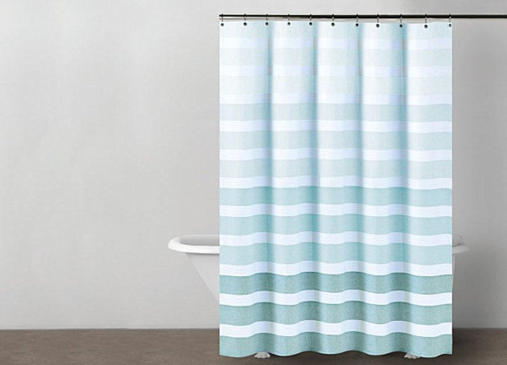 Image of: Striped Shower Curtain Fabric