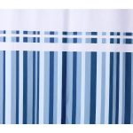 Striped Shower Curtain Navy